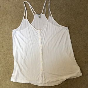Olds Navy White Button Down tank